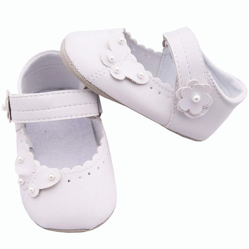 Chaussures de baptême en imitation satin - Bébé fille 49Sasd