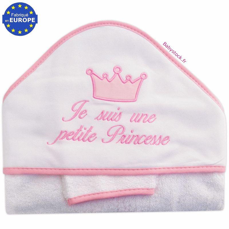 grande sortie de bain en forme de cape je suis une petite princesse rose fuchsia 12 99. Black Bedroom Furniture Sets. Home Design Ideas