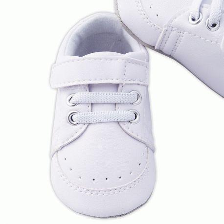 chaussures de bapt me gar on blanc scratch babystock. Black Bedroom Furniture Sets. Home Design Ideas