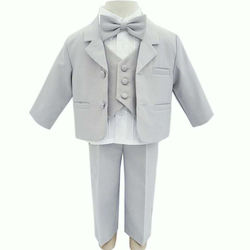 fa2e143b725a2 Costume pour bébé garçon en polyester gris 5 pièces Arthur