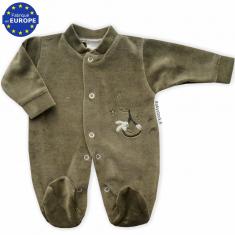 786f05a1c1a98 Pyjama bébé grand préma mixte 39 cm velours blanc brodé