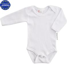 Body bébé mixte à manches longues en coton blanc 846e344bbf7
