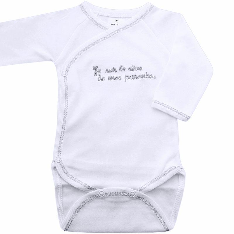 4a62df26134bc -40% Body bébé mixte coton brodé Je suis le rêve ...