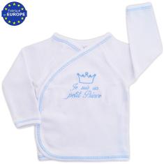 89bb26bb8611 Brassière naissance m-courtes en coton brodé Je suis un petit Ange bleu