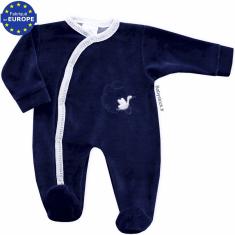 193b2e3de4dec Pyjama bébé prématuré mixte 40cm en velours gris cigogne