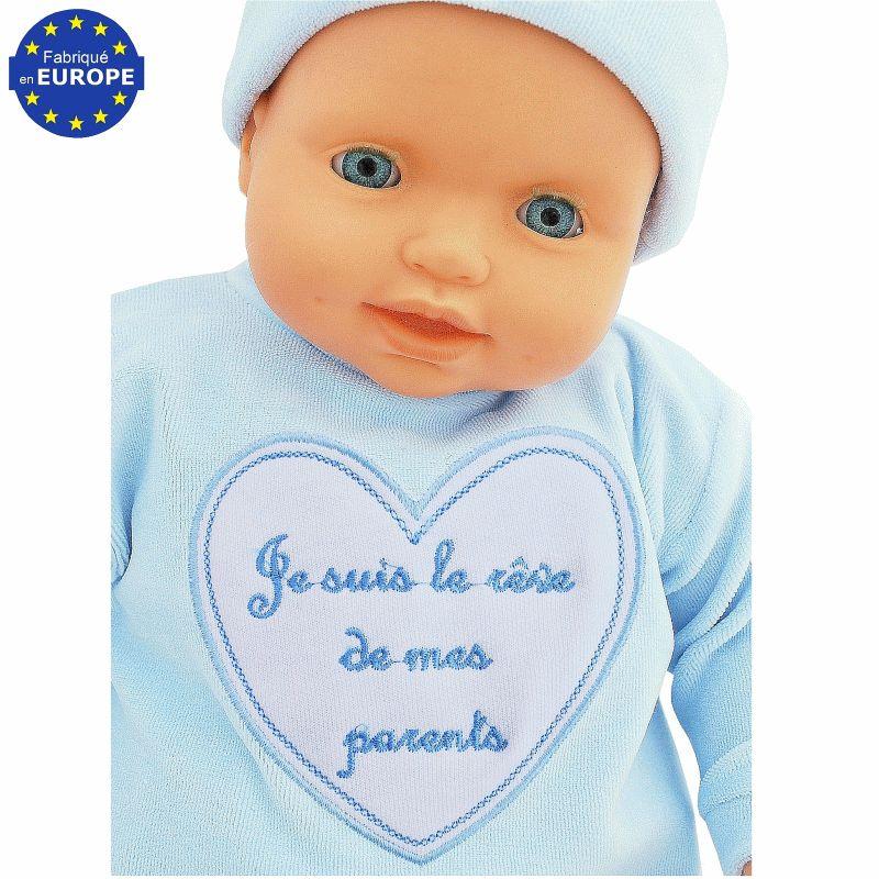 d847bac2d509b Ensemble bébé Je suis le rêve de mes parents bleu 4 pièces